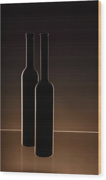 ...he And She... Wood Print by Daniela Bartosova