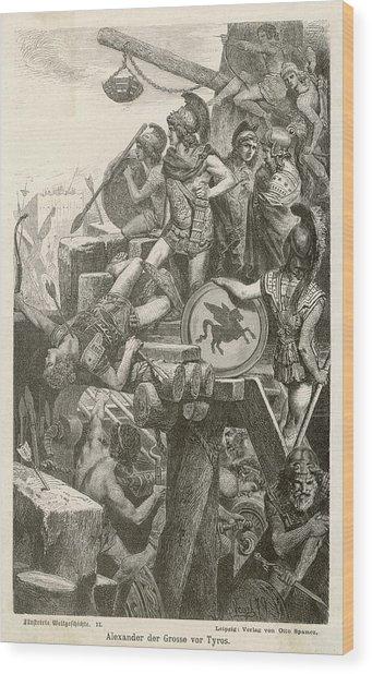 He Besieges Tyre, Lebanon          Date Wood Print