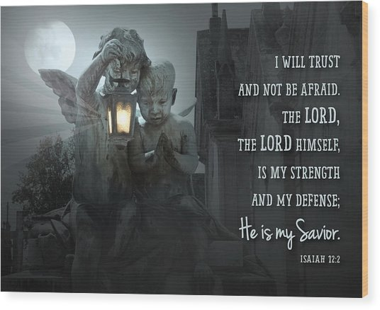 He Is My Savior Wood Print