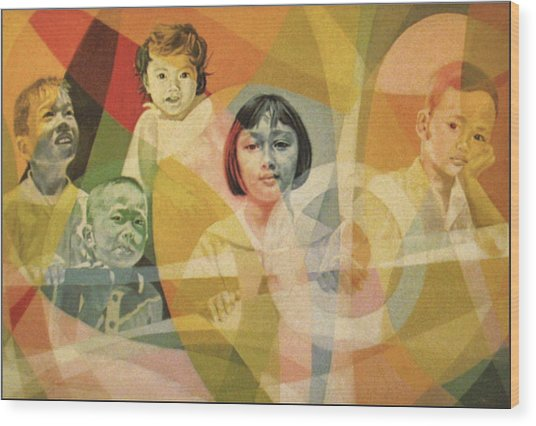 He Took Them In His Arms Wood Print by Glenn Bautista