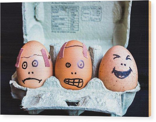 Headache Eggs. Wood Print