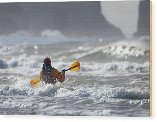 Heading Out At The La Push Pummel Wood Print by Gary Luhm