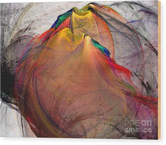 Headless-abstract Art Wood Print