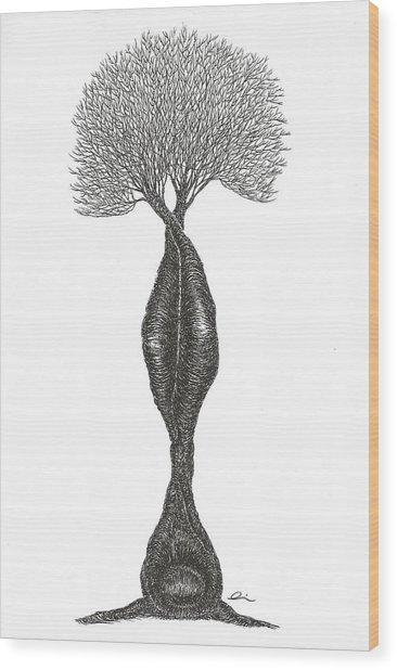 Headstand Wood Print