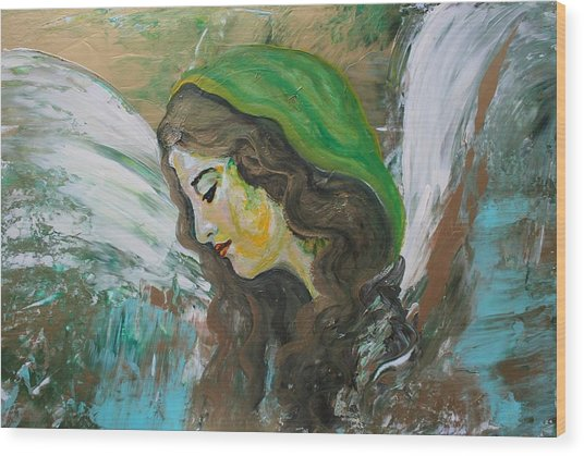 Healing Angel Wood Print