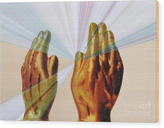 Healing Hands Wood Print