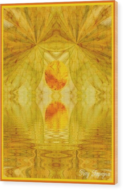 Healing In Golden Sunlight Wood Print by Ray Tapajna