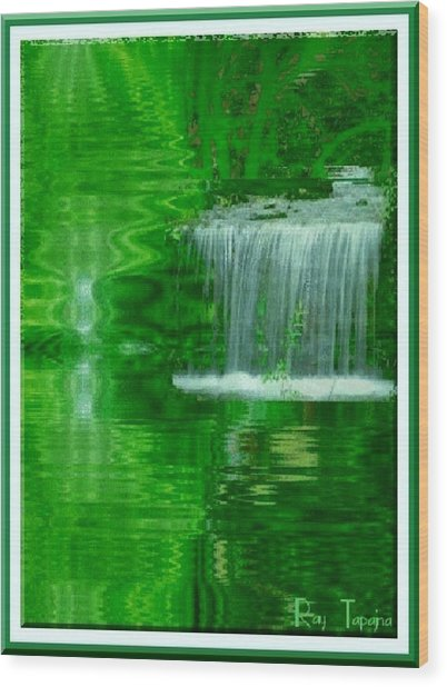 Healing In Green Waters Wood Print by Ray Tapajna