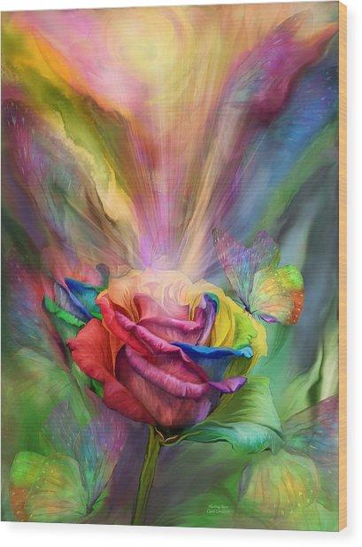 Healing Rose Wood Print