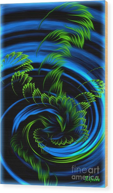 Healing Vortex - Abstract Spiritual Art By Giada Rossi Wood Print