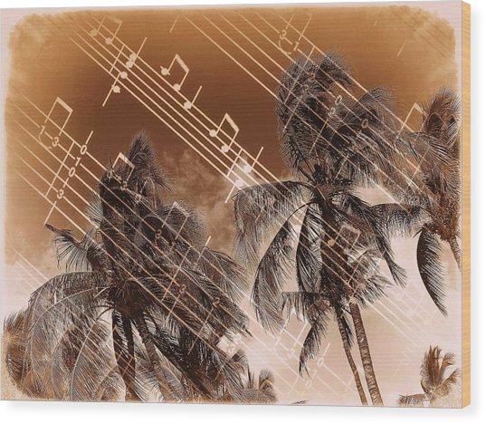 Hear The Music Wood Print