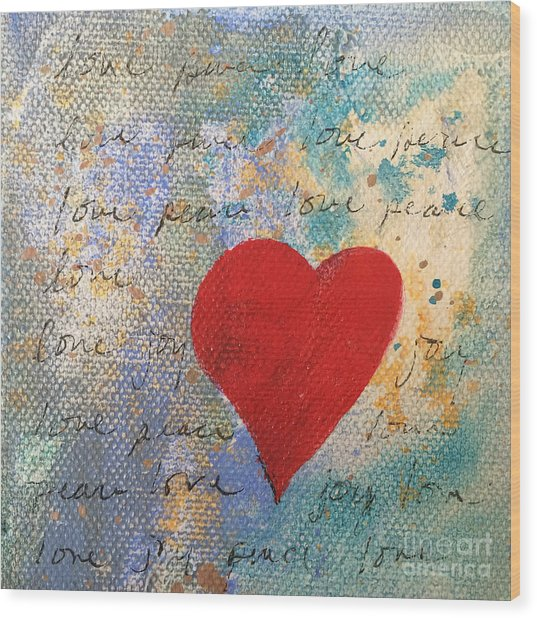 Heart #9 Wood Print