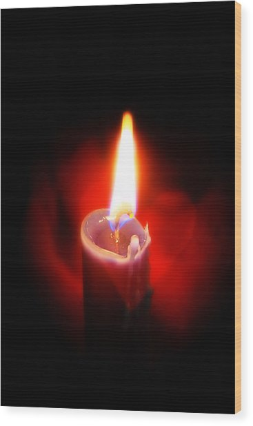 Heart Aflame Wood Print
