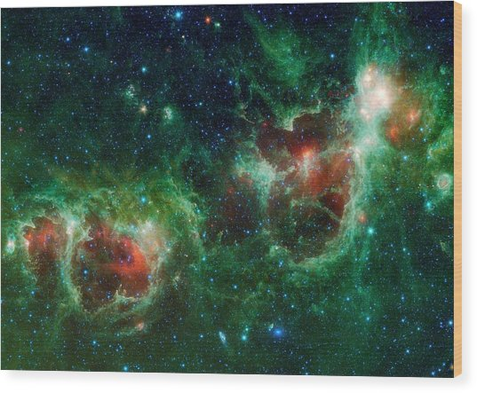 Heart And Soul Nebulae Wood Print
