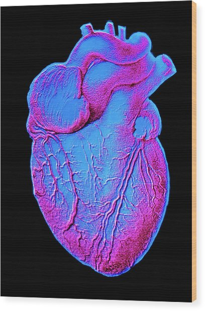 Heart Artwork Wood Print by Alain Pol, Ism/science Photo Library