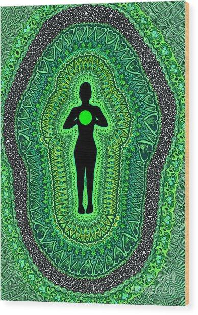 Heart Chakra Anahata Wood Print