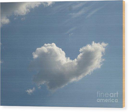 Heart Cloud Sedona Wood Print