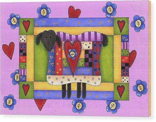 Heart For Ewe Wood Print