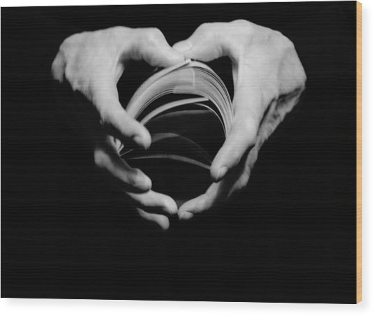 Heart In Hand Wood Print