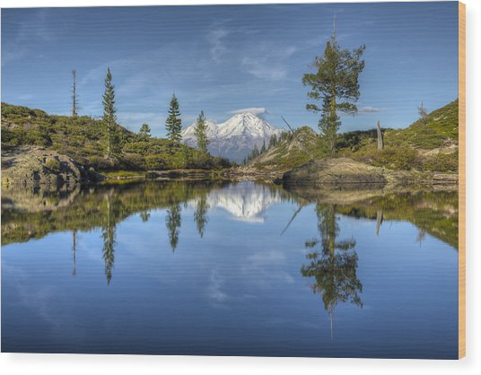 Heart Lake Wood Print