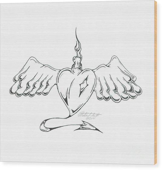 Heart Wood Print by Matt Sutherland