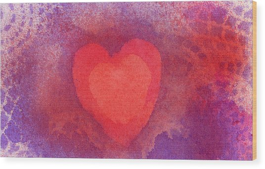 Heart Of Love Wood Print
