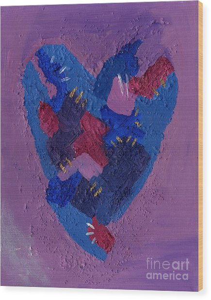 Healing Heart Wood Print
