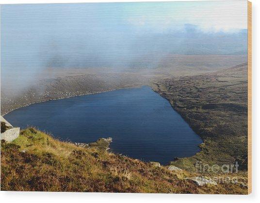 Heart Shape Lake Lough Ouler Wicklow In Ireland Wood Print