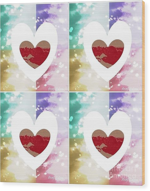 Heartful Wood Print