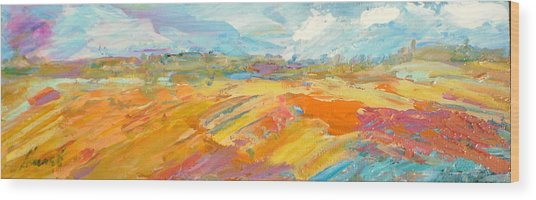 Heartland Series/ Ranchlands Wood Print by Marilyn Hurst