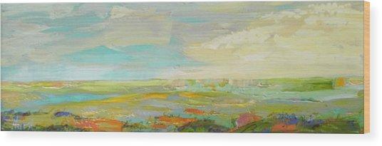 Heartland Series/ Springtime Wood Print by Marilyn Hurst