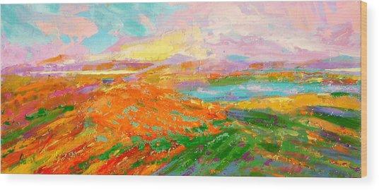 Heartland Series/ Vineyards Wood Print by Marilyn Hurst