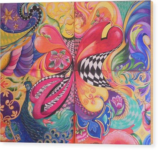 Heart's Abound Wood Print by Jill Alexander