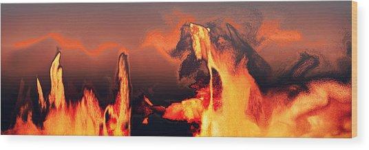 Heated Activity Wood Print