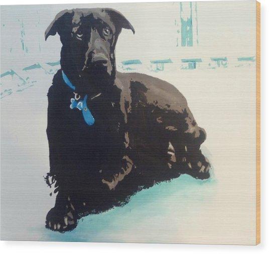 Heathers Dog Wood Print