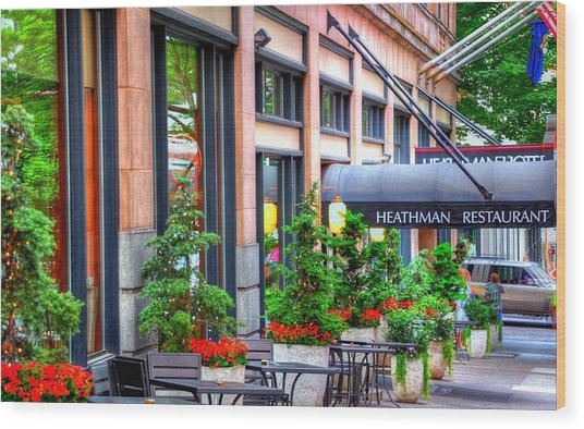 Heathman Restaurant 17368 Wood Print