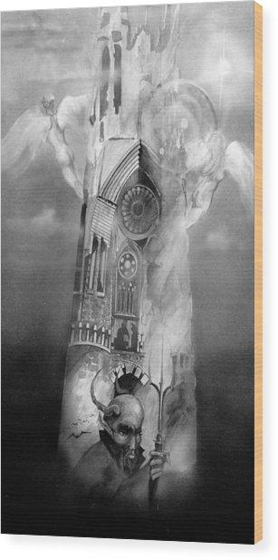Heaven And Hell Wood Print