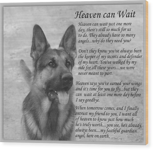 Heaven Can Wait Wood Print