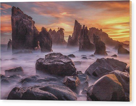 Heaven Of Rocks Wood Print by Gunarto Song