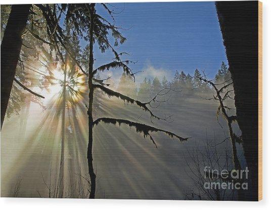 Heavenly Manifestation Wood Print