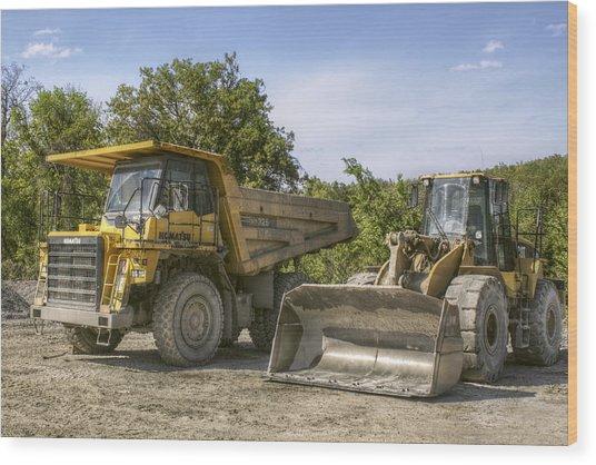 Heavy Equipment - Komatsu - Cat Wood Print
