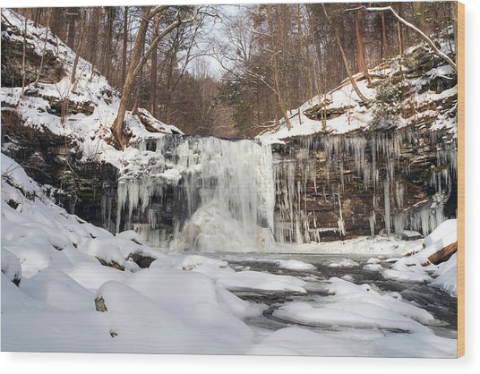 Heavy Ice At Harrison Wright Wood Print