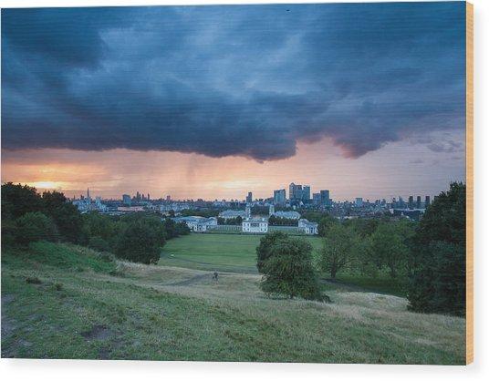 Heavy Rains Over London Wood Print by Wayne Molyneux