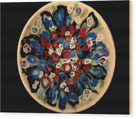 Heavy Textured Bowl Wood Print by Martha Nelson
