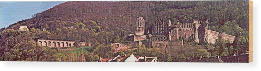 Heidelberg Castle And Arches Wood Print by Kimo Fernandez