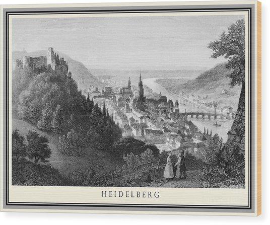 Heidelberg Etching Wood Print