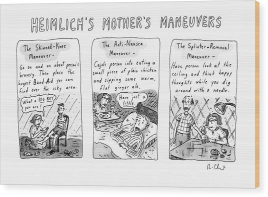 Heimlich's Mother's Maneuvers Wood Print