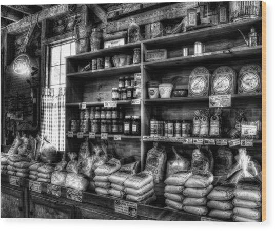 Helen Georgia Grist Mill In Black And White Wood Print