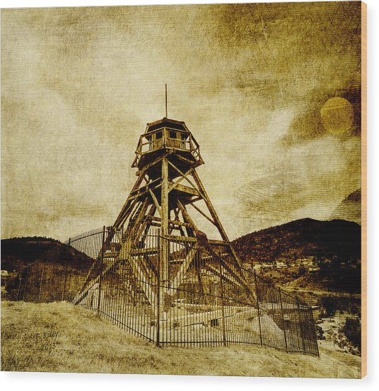 Helena-montana-fire Tower Wood Print