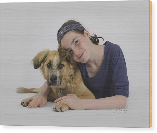 Helene And Merlin 2 Wood Print